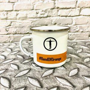 TrueSapien Band Of Orange Enamel Camping Mug