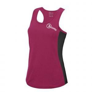 TrueSapien Women's Contrast Running / Fitness Vest
